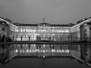 villa reale Monza in bn