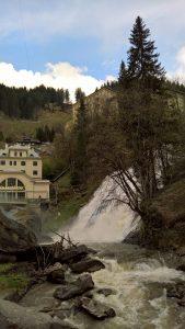 Bad Gastein cascata Ache in basso