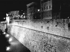 mura Bergamo in bn
