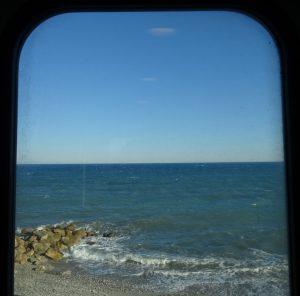 mare Liguria dal treno