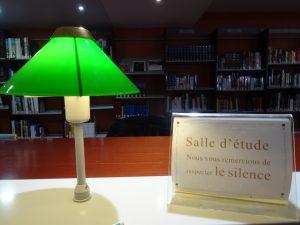lampada verde biblioteca Nizza