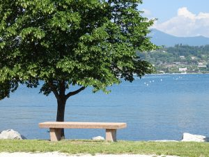 panchina lago di Garda